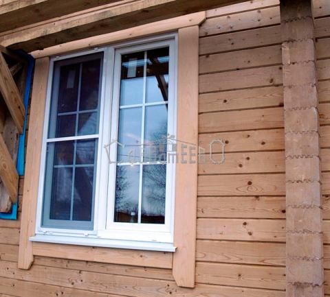 Пластиковые окна доме из бруса