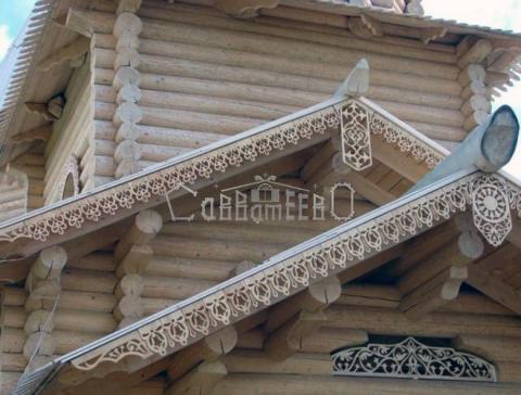 Деревянный дом в индивидуальном стиле