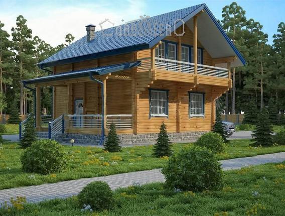 Дом из бруса с мансардой Б-228