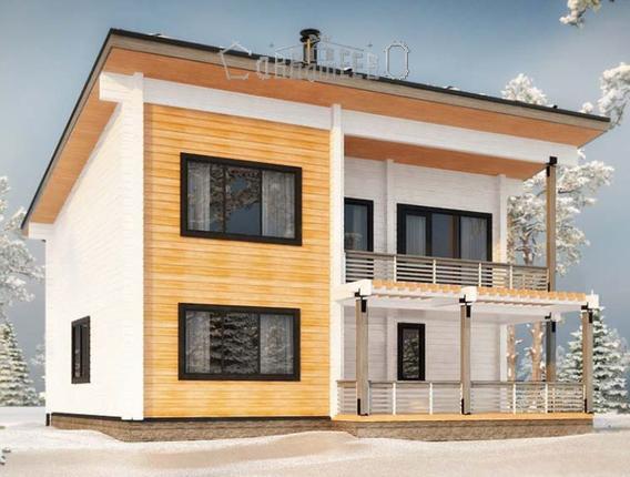 Дом из бруса с мансардой Б-213