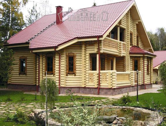 Дом из бревна с мансардой О-208