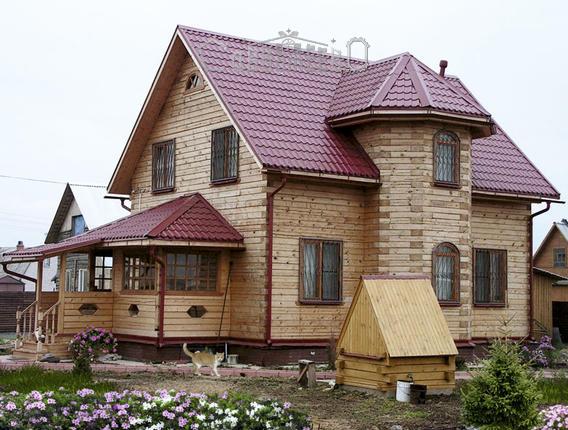 Дом из бруса с мансардой Б-114