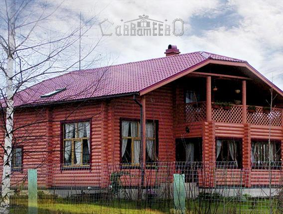 Дом из оцилиндрованного бревна О-207