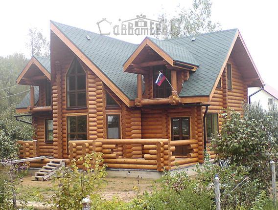 Дом из оцилиндрованного бревна О-211