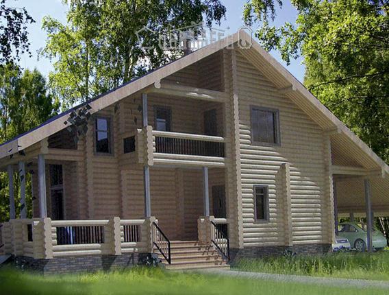 Дом из оцилиндрованного бревна О-306