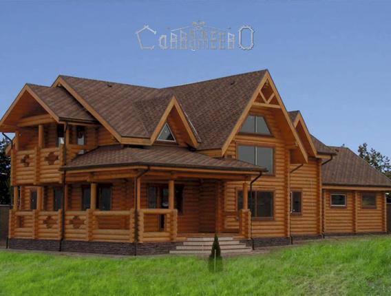 Дом из оцилиндрованного бревна О-402
