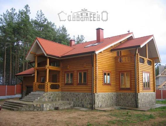Дом из бревна О-206