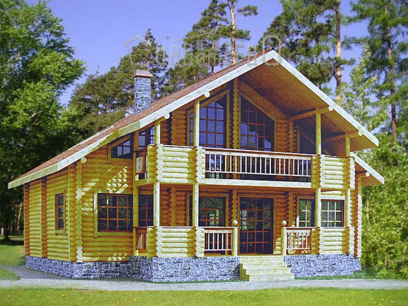 Дом из бревна О-305