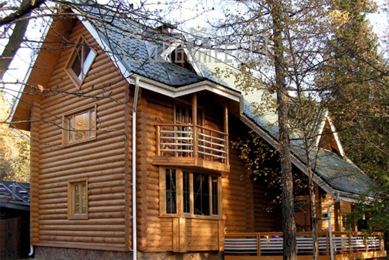 Дом из бревна с мансардой О-203
