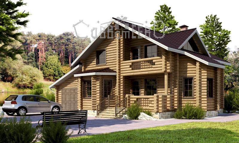Дом из оцилиндрованного бревна О-217