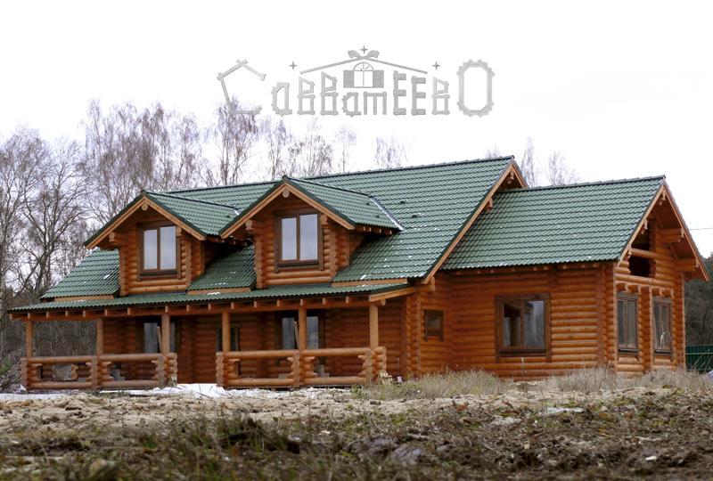 Дом из оцилиндрованного бревна О-406