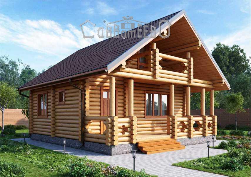 Дом из бревна с мансардой О-101