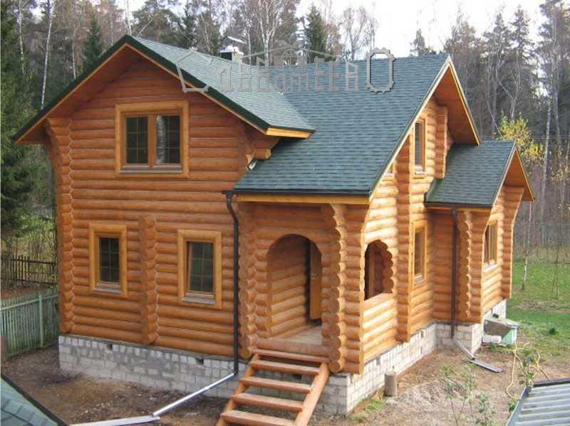 Дом из оцилиндрованного бревна О-213