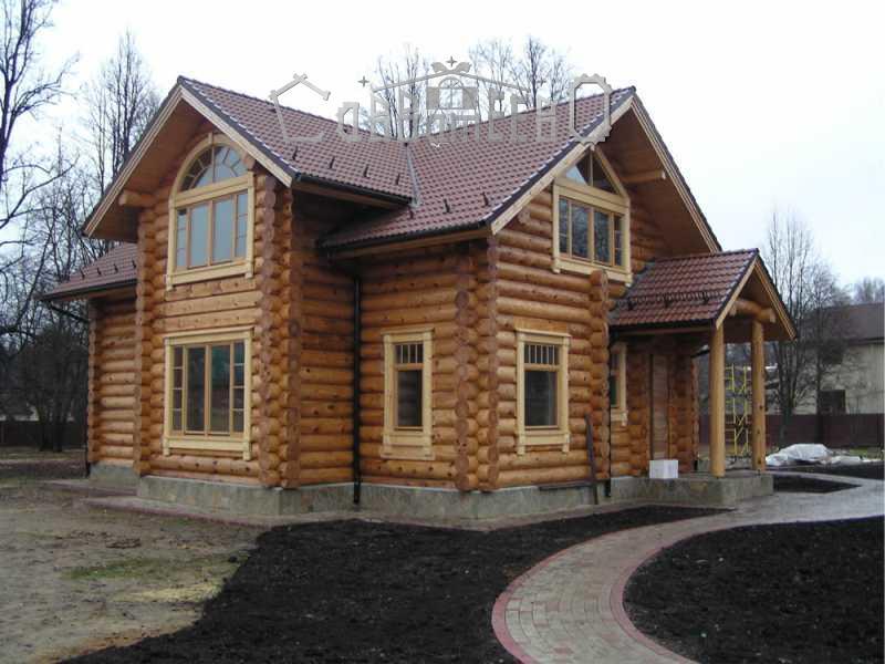 Дом из оцилиндрованного бревна О-215