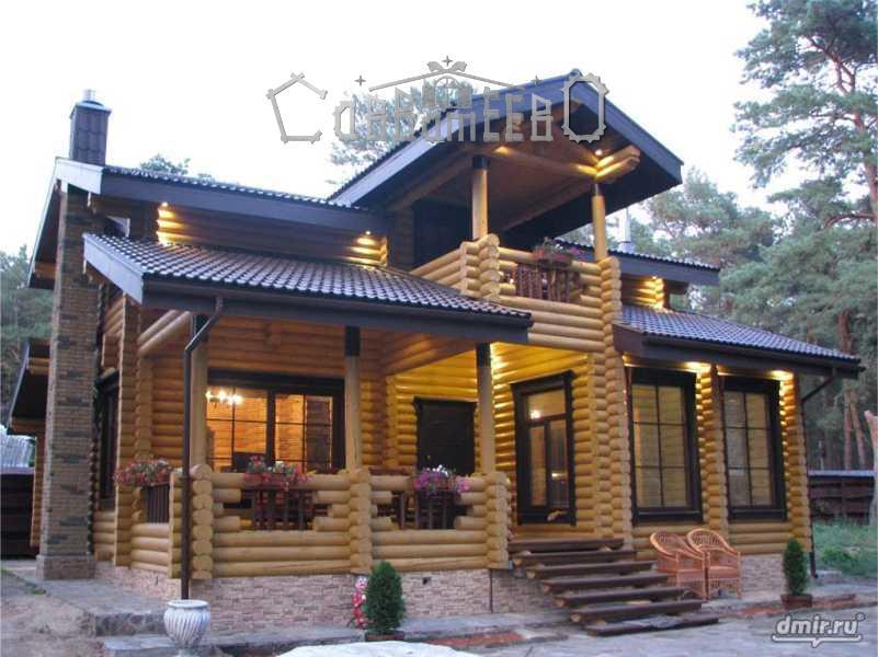 Дом из оцилиндрованного бревна О-223