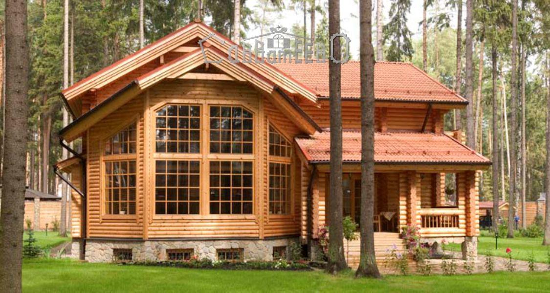Дом из бревна с мансардой О-304