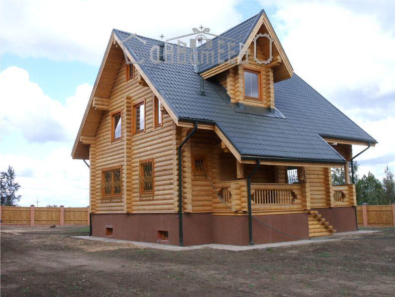 Дом из оцилиндрованного бревна О-307